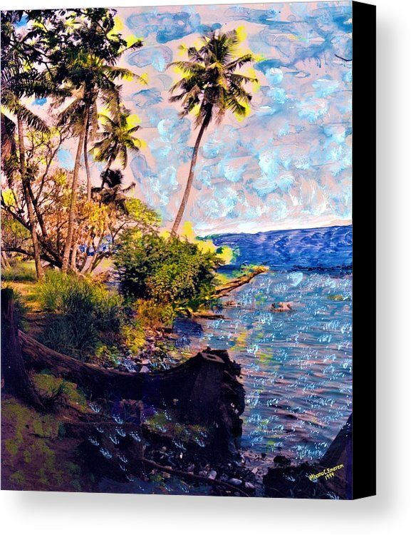 Oceanscape With Forest Fringe Canvas Print African Arts By