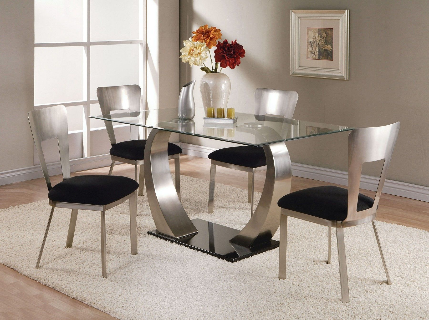 Design Ideas Rectangular Brown Glass Tables Glass Dining Table Glass Dining Table Set Glass Dining Room Table