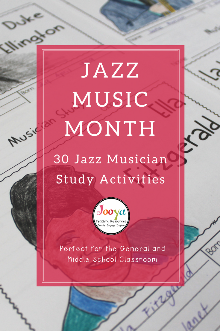 Jazz Musician Study Worksheets Jazz Pinterest General Music