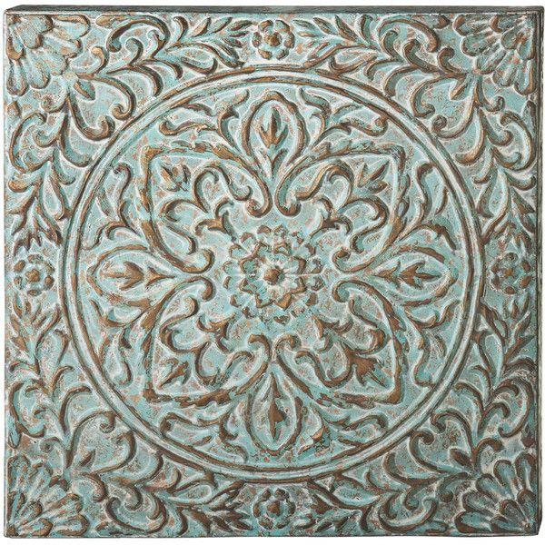 Floral Wall Medallion Metal Wall Art (\u20ac94) ❤ liked on Polyvore