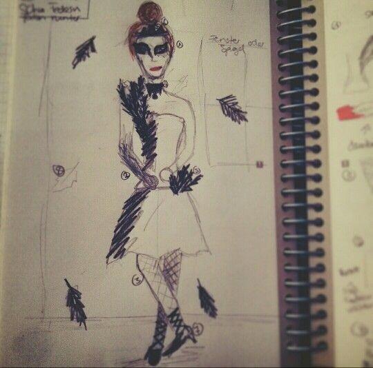 Hier meine #Zeichnung vom #BlackSwan für das #shooting und die #photographie von #wunderlandillusion mit Chiara