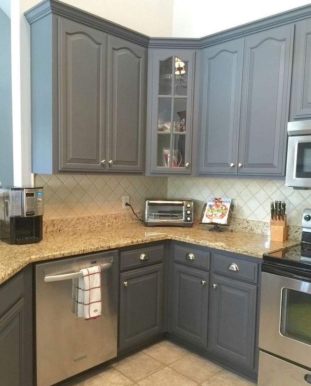 Adorable 70 Awezome Farmhouse Kitchen Cabinet Makeover Design Ideas ...