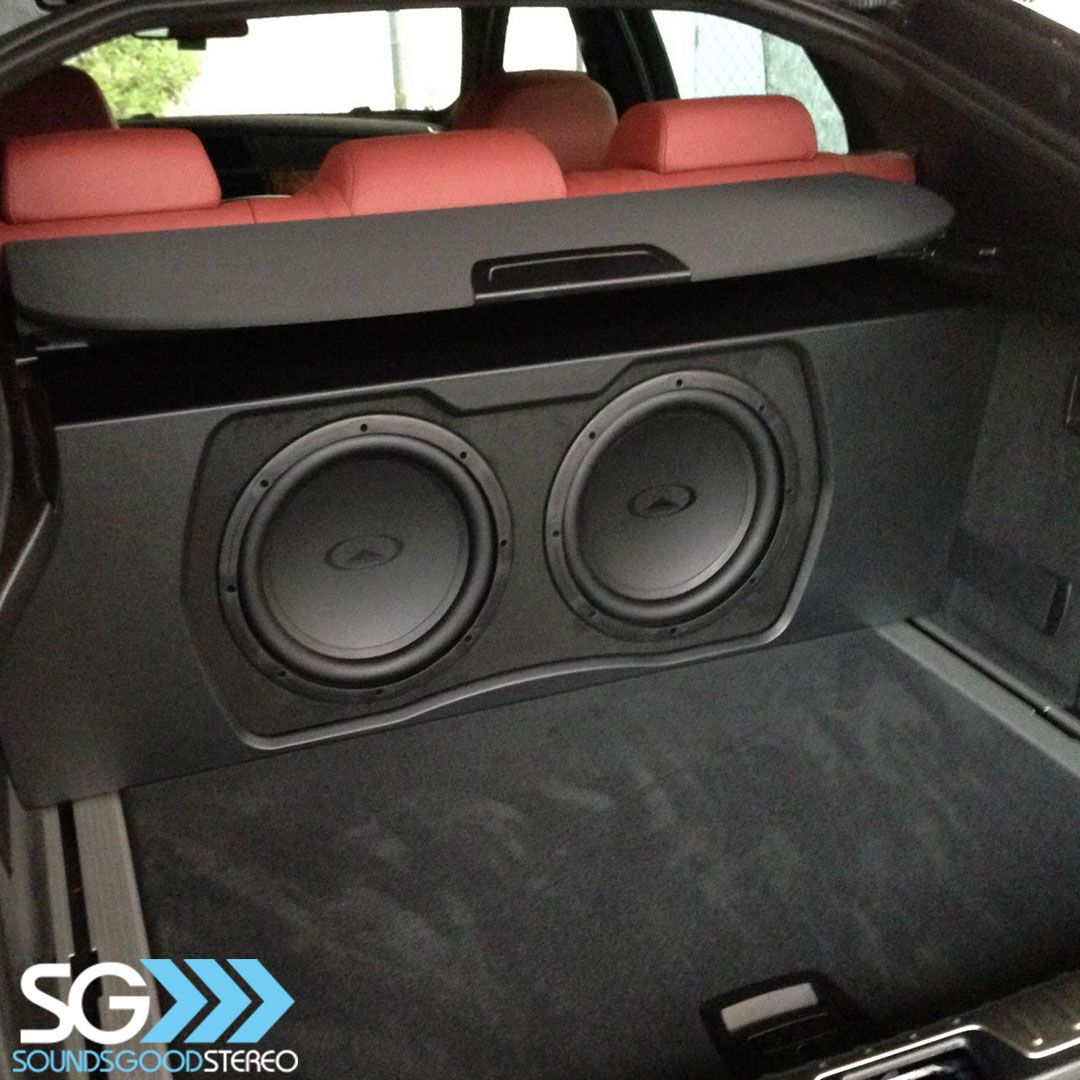 bmw x6 in for a custom subwoofer package completed using subwoofers designed by audiomobile we [ 1080 x 1080 Pixel ]