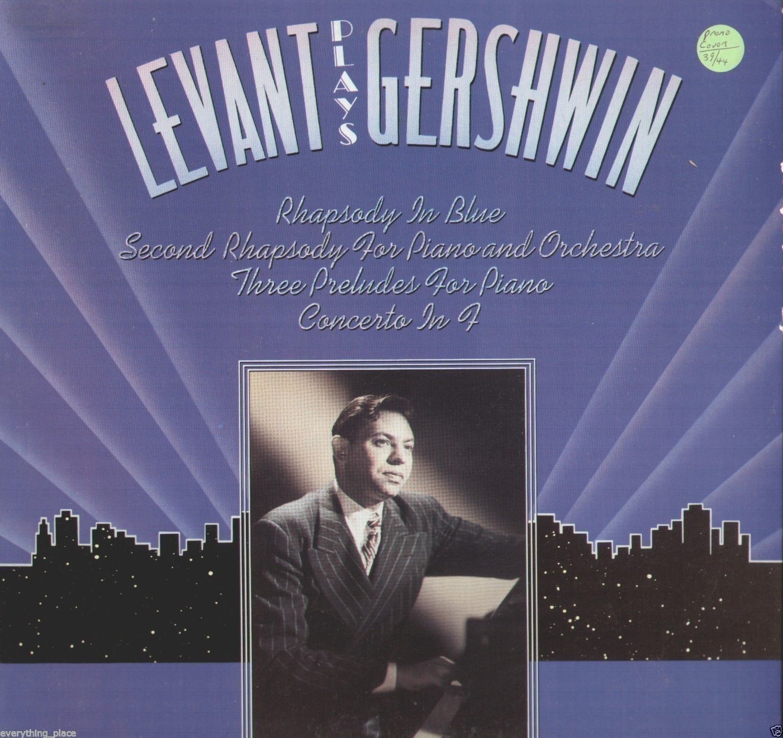 Oscar Levant Plays Gershwin Vinyl LP Record Album
