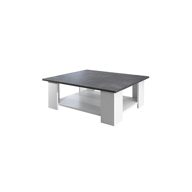 Table Basse Effet Beton Blanc En 2018 Tables Basses Pinterest