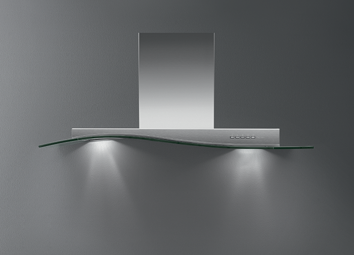Design Onda Vetro. A wave of glass and stainless steel, the wave of innovation. E naufragar m'è dolce in questo mare.