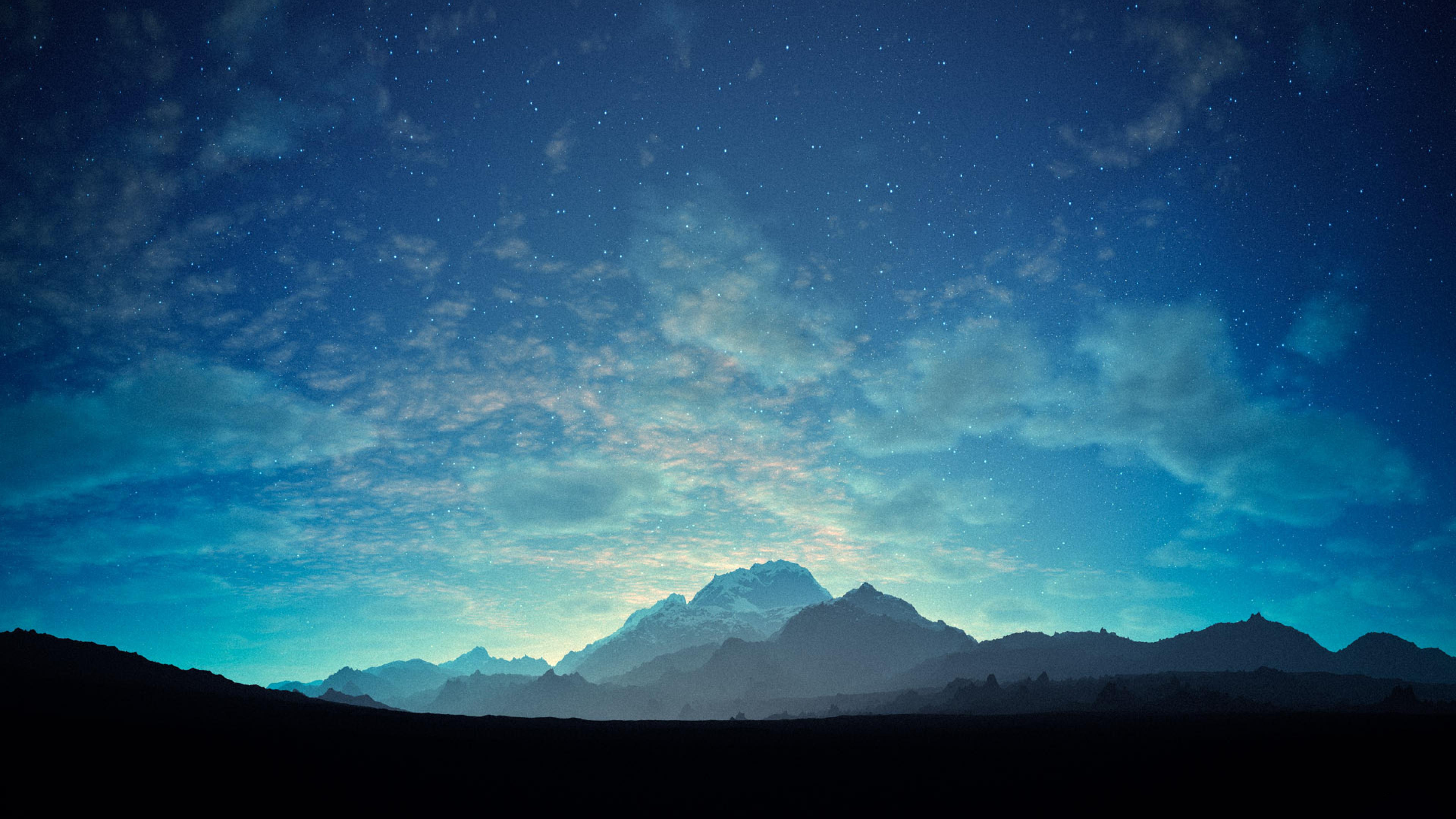 Free Desktop Starry Night Wallpaper in
