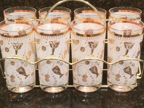 Mid Century Cocktail Party Theme Glasses with by Midcenturium