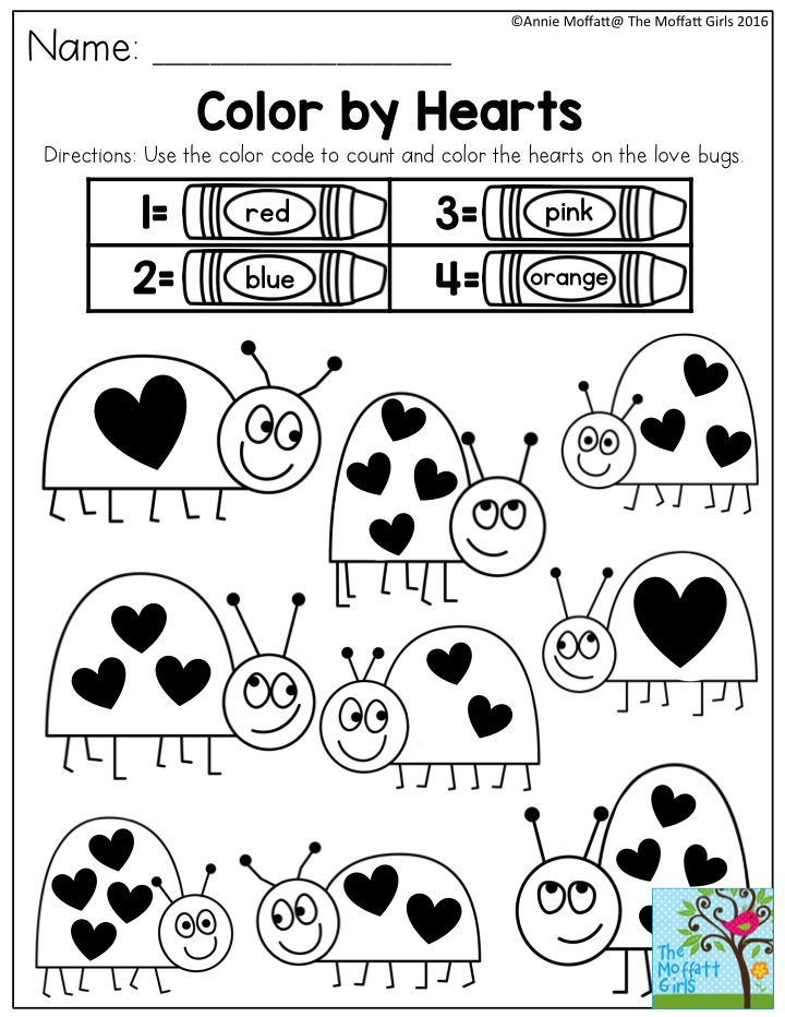 Color by Hearts- SIMPLE activities to build confidence and