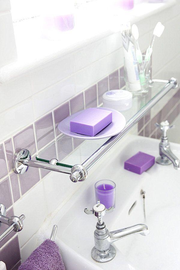 Simple Glass Shelf Bathroom | Glass Bathroom Shelf | Pinterest ...
