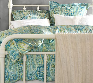 Rosalie Paisley Duvet Cover Sham Pottery Barn Would Be