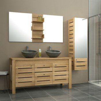 Meuble de salle de bains plus de 120, brun   marron, Moorea Leroy - Renovation Meuble En Chene