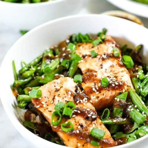 Grilled Teriyaki Salmon Bowls (Paleo + Whole30) #teriyakisalmon Grilled Teriyaki... #salmonteriyaki Grilled Teriyaki Salmon Bowls (Paleo + Whole30) #teriyakisalmon Grilled Teriyaki...  #Bowls #Grilled #Paleo #Salmon #Teriyaki #teriyakisalmon