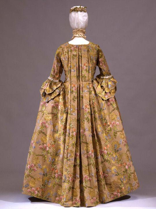 Robe à la française, 1770-80  From the Galleria del Costume di Palazzo Pitti via Europeana Fashion