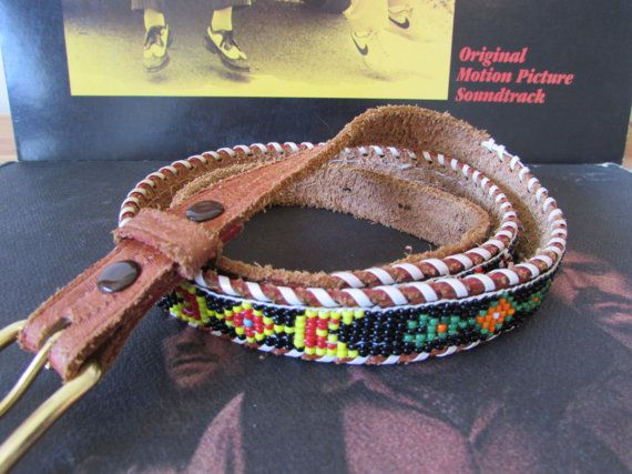 Vintage Leather and Bead Southwest Native American by FunkyOldSoul