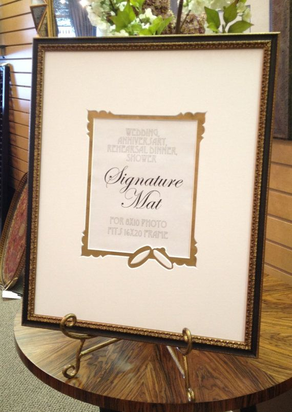 Framed Wedding Signature Mat Anniversary Wedding Wedding Frames