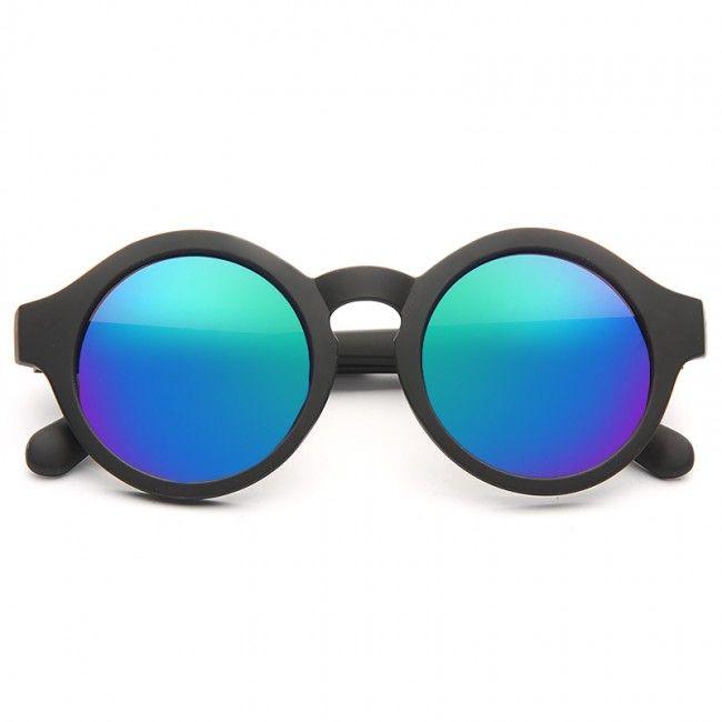 Cheap Oversized Sunglasses | Kimball Oversized Color Mirror Round Sunglasses | BleuDame.com