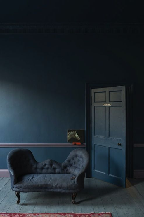 Stunning room with walls door and ceiling painted in Farrow