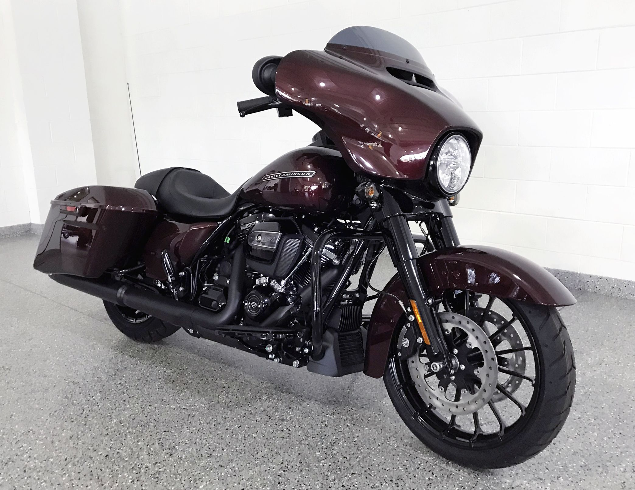 The All New 2018 Street Glide Special Looks Incredible In Twisted Cherry Harley Davidson Street Glide Special Harley Davidson Bikes