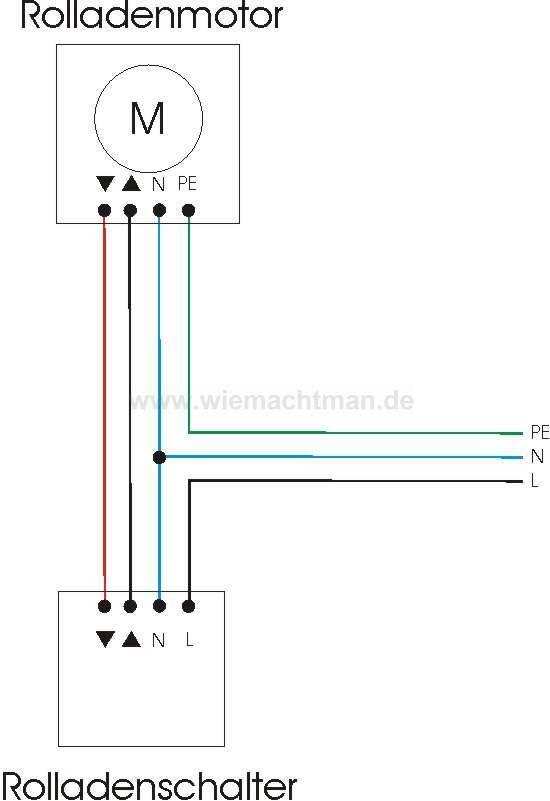 rolladenmotor anschlie en schaltplan schaltungen pinterest schaltplan haus projekte und. Black Bedroom Furniture Sets. Home Design Ideas
