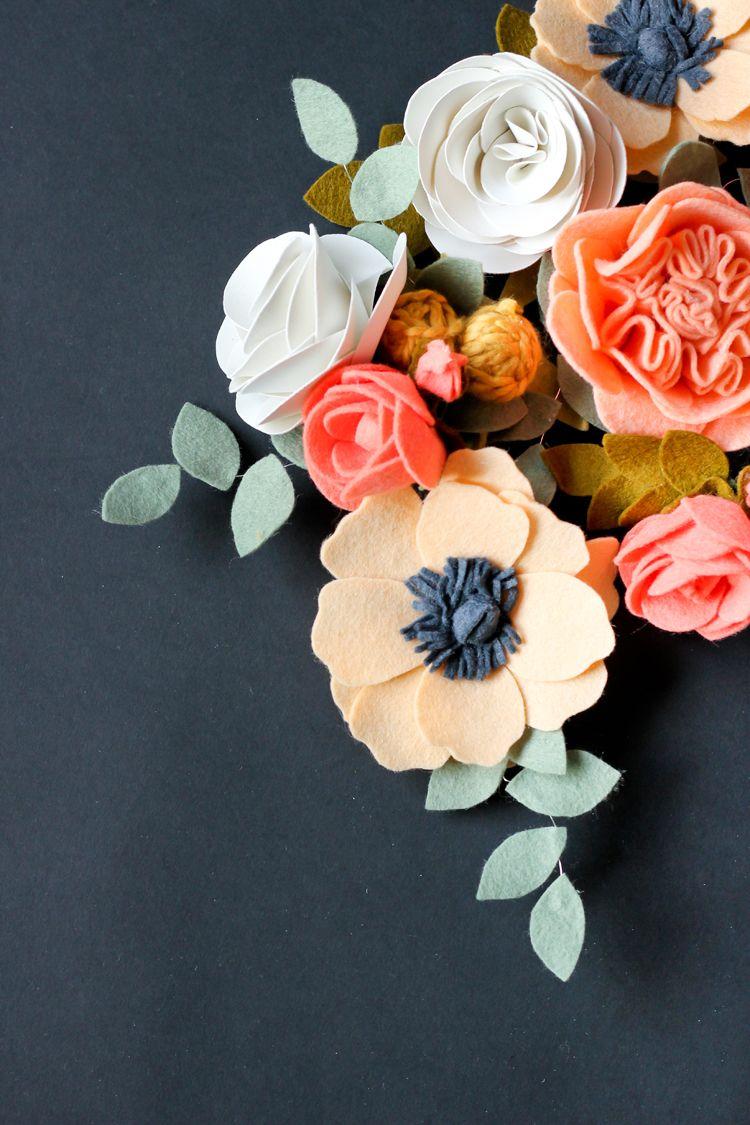 Easter diy spring home decor paper flowers pinterest felt diy felt flowers izmirmasajfo