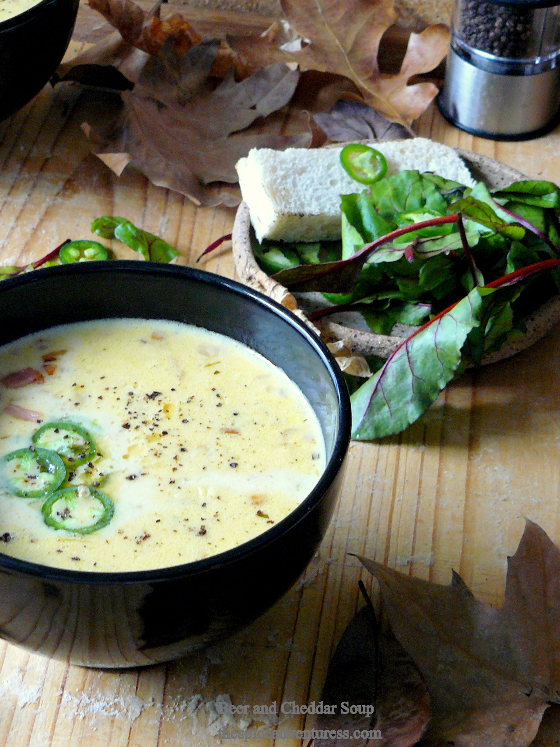 Beer and Cheddar Soup @thespiceadventuress.com