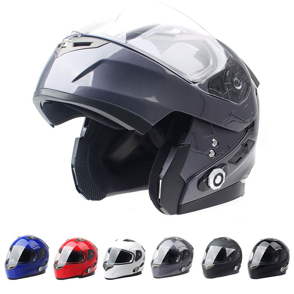 24916dbf 2017 Brand Smart Bluetooth Motorcycle Helmet Built in Intercom System Dot  Standard Helmet 3 Riders BT Talking with FM Radio