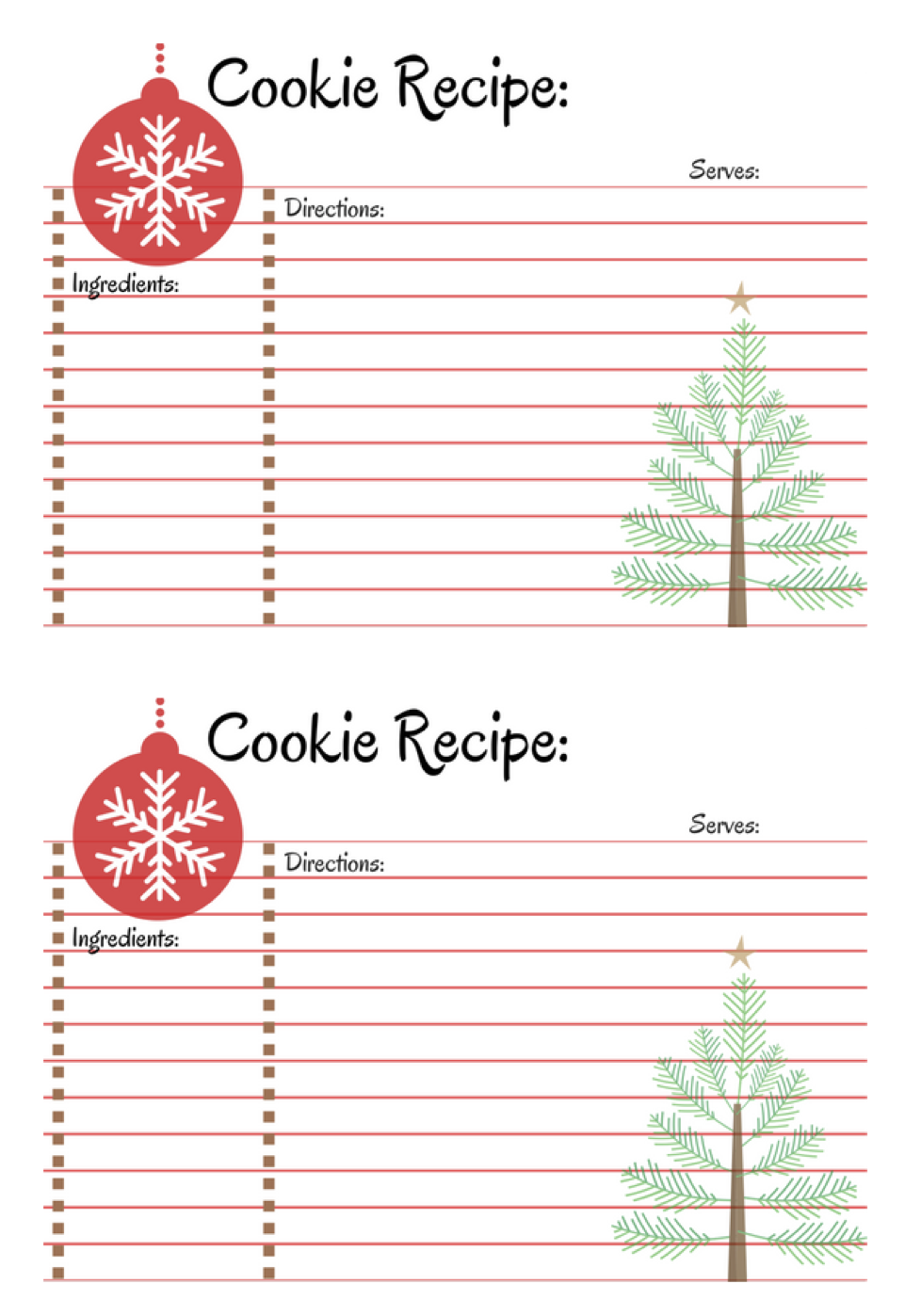 Host A Cookie Exchange Party A Cup Full Of Sass Recipe Cards Template Printable Recipe Cards Christmas Recipe Cards Printable