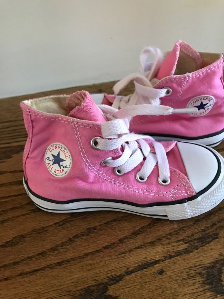 30d560bc3f Pink Converse size 7 toddler girls shoes in box  fashion  clothing  shoes   accessories  babytoddlerclothing  babyshoes (ebay link)