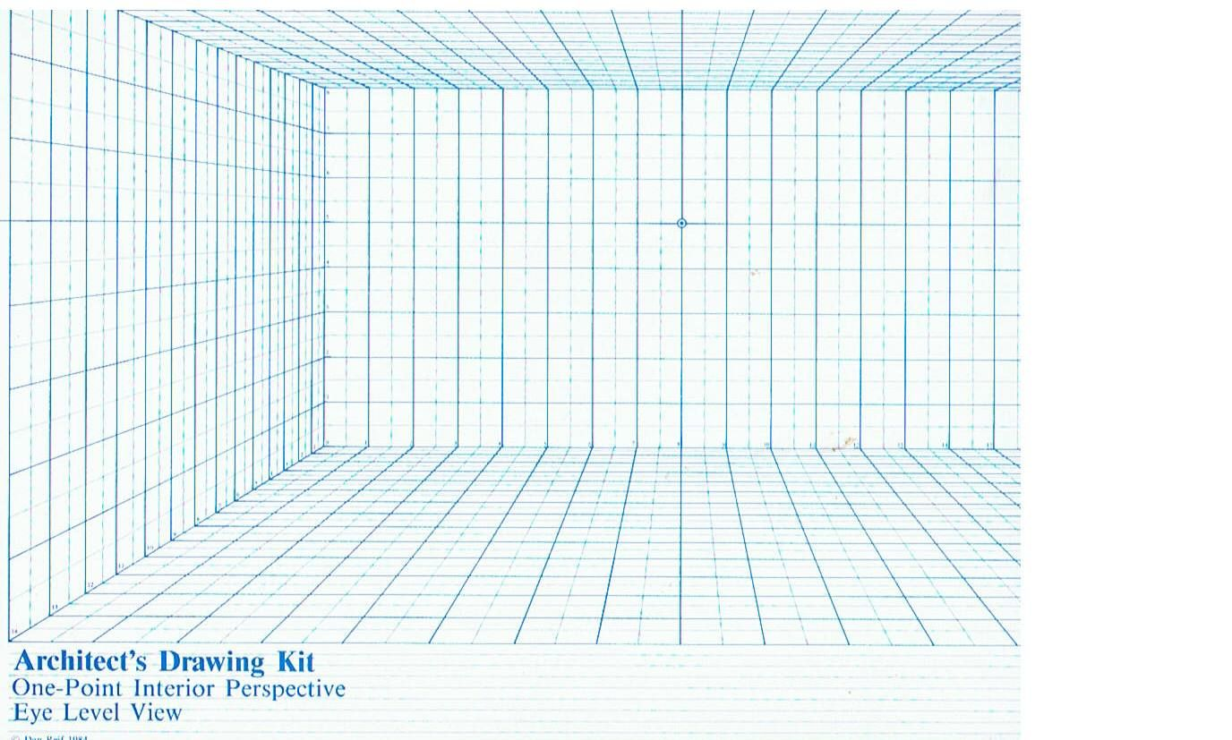1 Point Perspective Grid Template