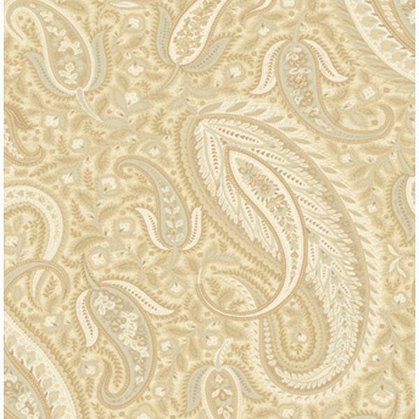 MG33011 Neutrals Modern Paisley Wallpaper - Modern Gentleman by Chesapeake