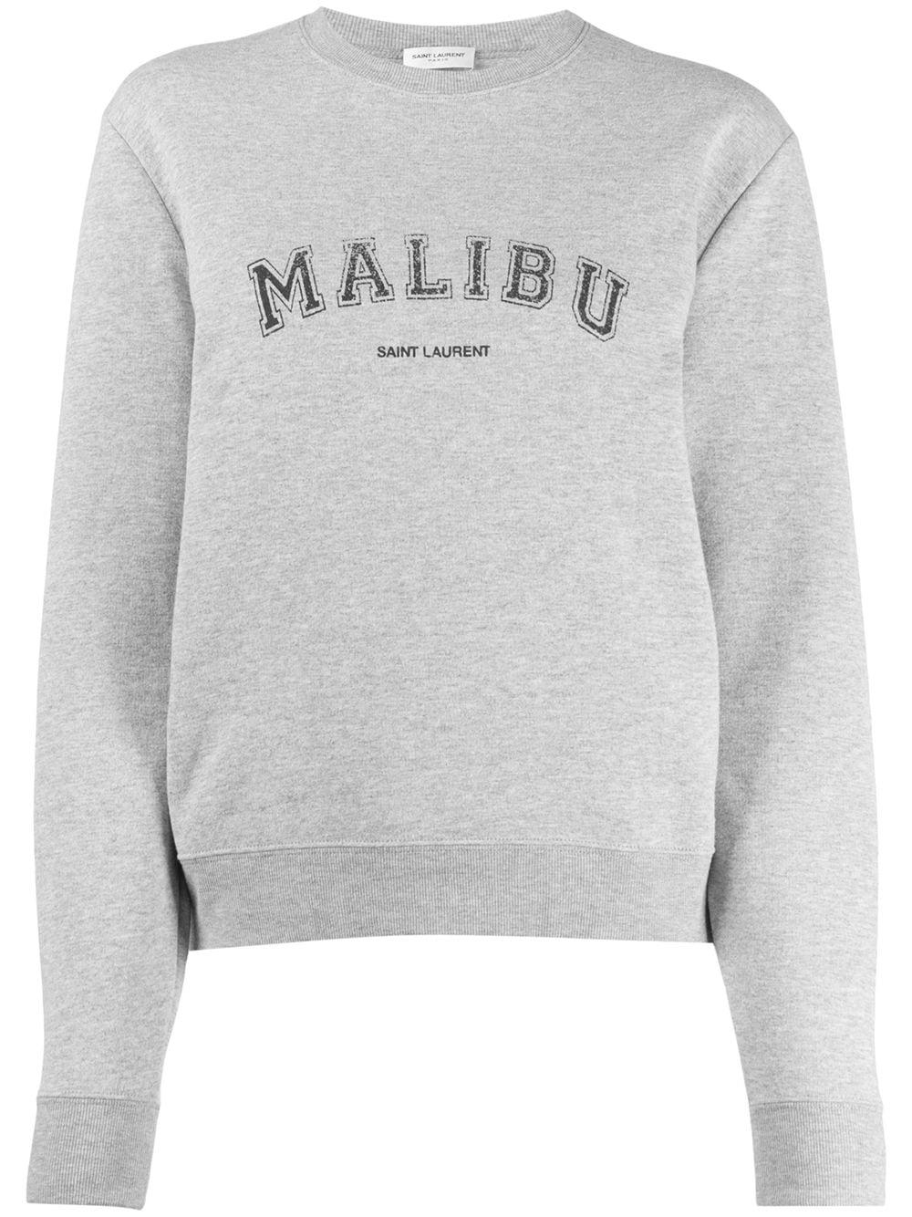 Saint Laurent Malibu Crew Neck Sweatshirt Farfetch Crew Neck Sweatshirt Sweatshirts Saint Laurent [ 1334 x 1000 Pixel ]