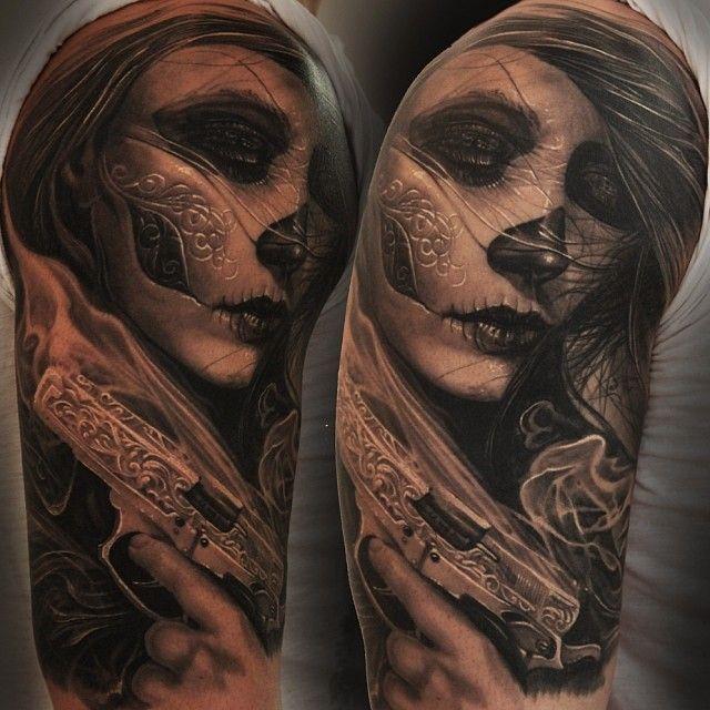 #tattoo #lamuerte #lacatrina
