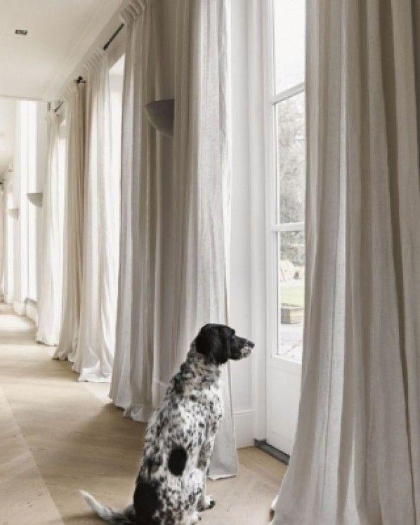 Afbeeldingsresultaat voor witte gordijnen 2018   woonkamer   Pinterest
