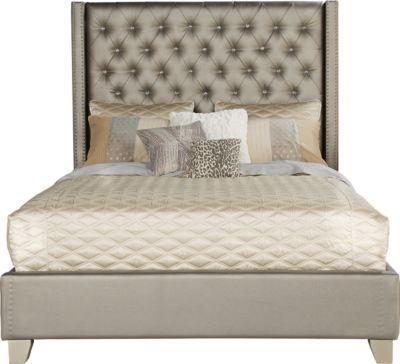Sofia Vergara Cadence Gray 3 Pc Queen Bed Queen Upholstered Bed