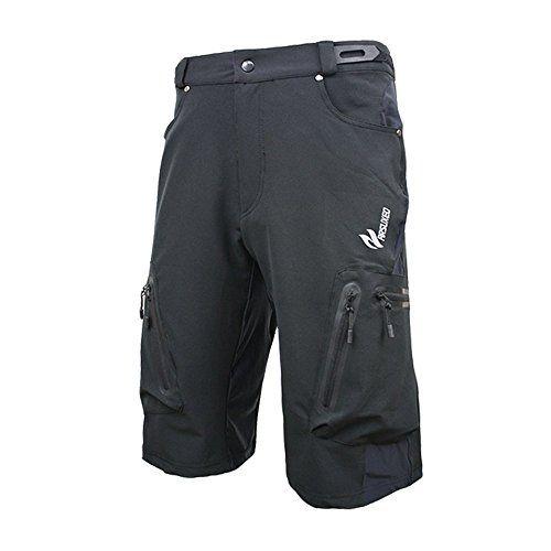 Men/'s Cycling Mountain Bike MTB Bicycle Baggy Shorts Pants Outdoor Zip Pockets