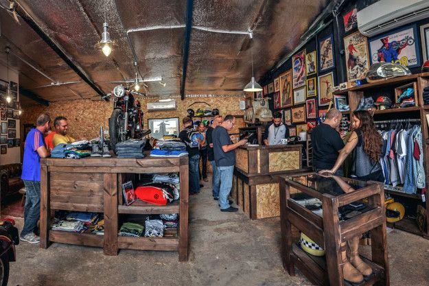 shop visit: back on two, israel | the smalls, shops and motorcycles