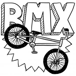 Bmx Racing Bike Coloring Page Kidspressmagazine Com Bike Drawing Bmx Bike Sketch