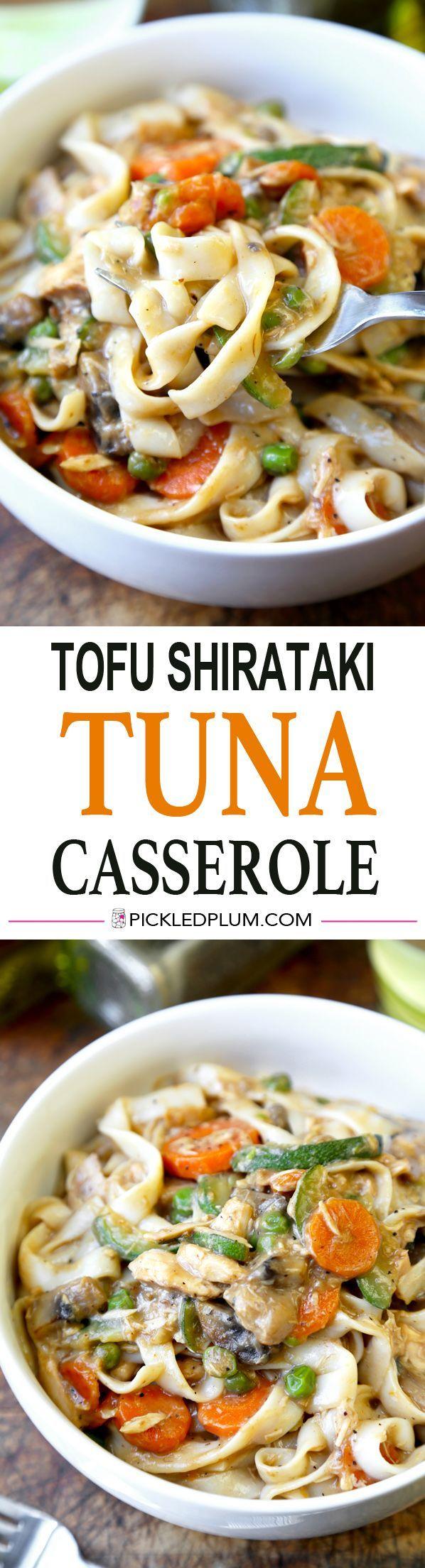 tofu shirataki tuna noodle casserole | recipe | tofu