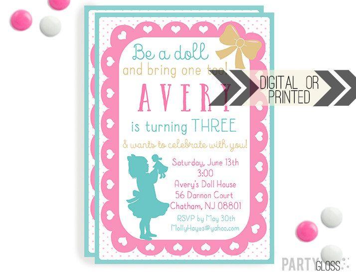 Baby Doll Party Invitation