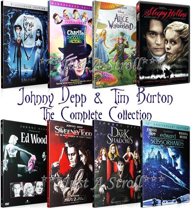 Johnny Depp Tim Burton The Complete Series Dvd Movie Collection