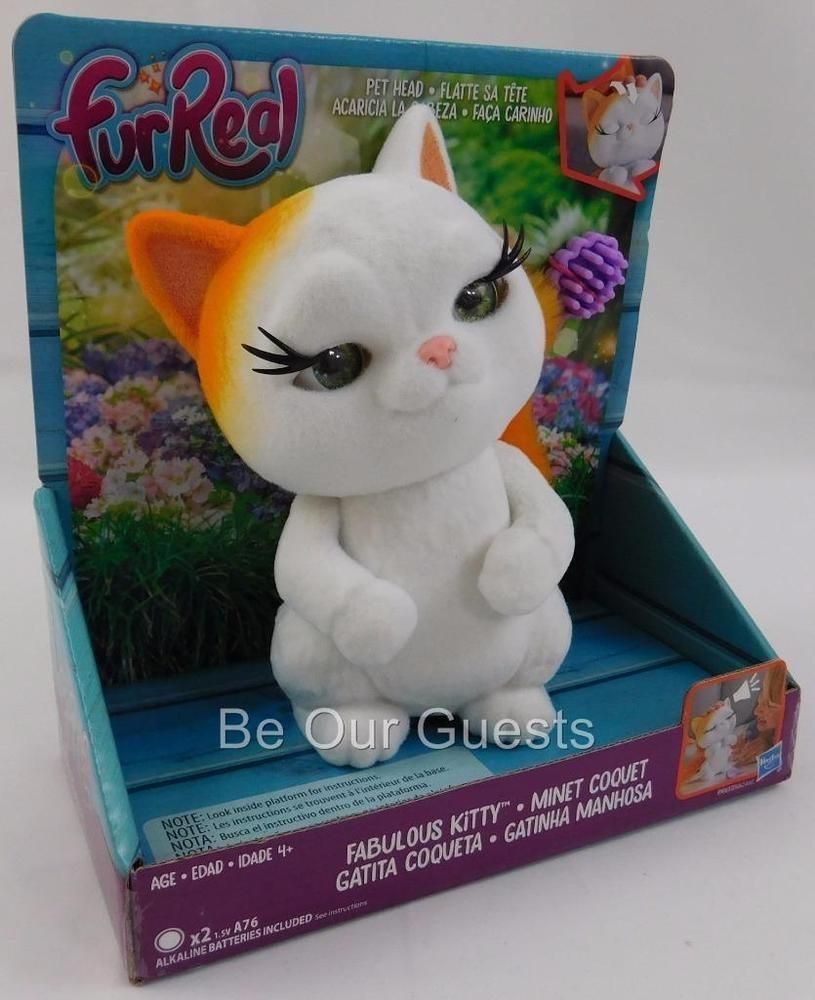 Fur Real Fabulous Kitty Pet Head Fuzz Pets New Interactive Toy Hasbro Fur Real Friends Interactive Toys Kitty