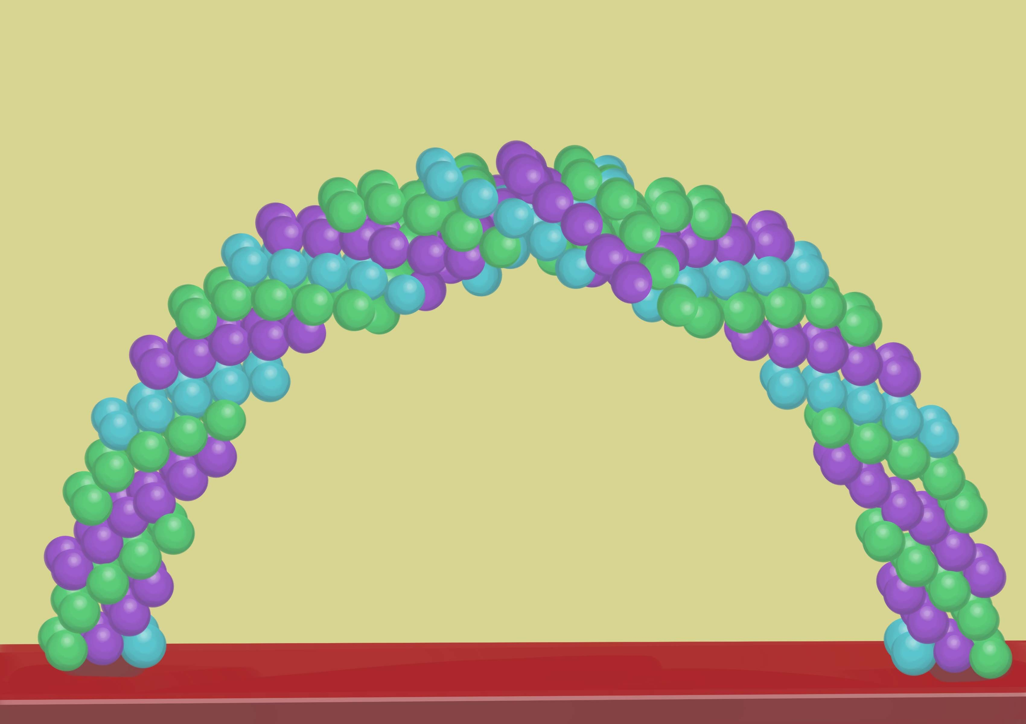Dorable How To Make A Balloon Arch Without Helium And Frame Frieze ...