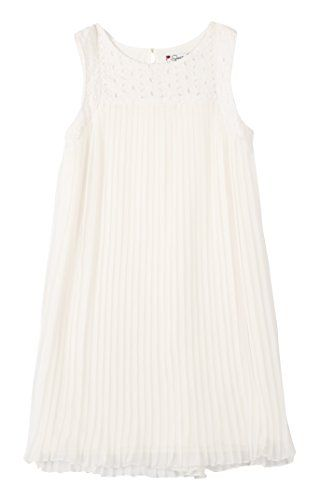 2b0284a0c15 Speechless Big Girls Eyelit Neck Crystal Pleat Dress Off White 16      Continue to