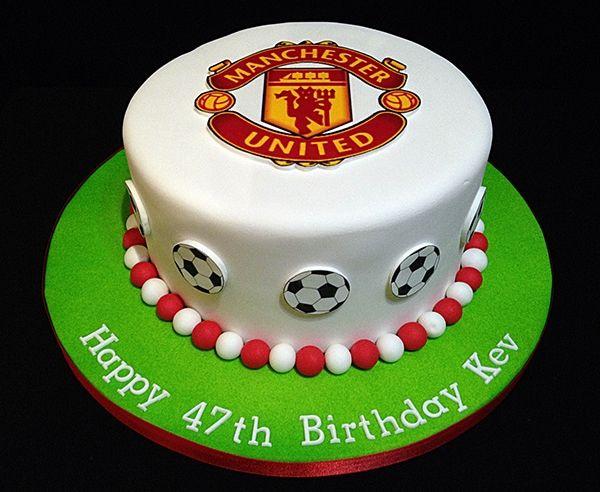 Football Cake Manchester United Logo Football Cake Decorations Football Cake Cake