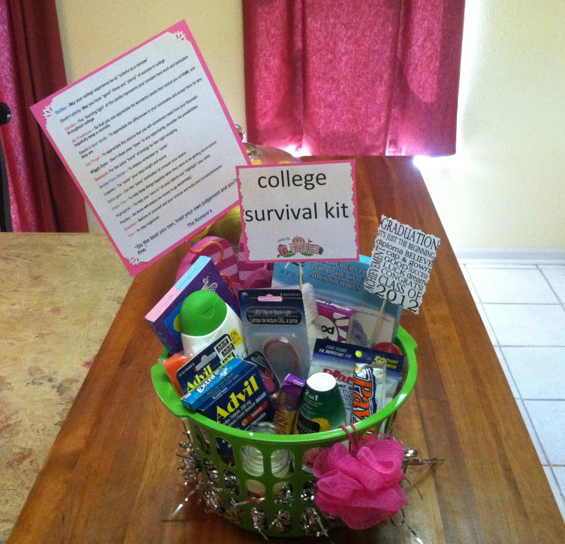 Pics photos funny college survival kit ideas - College Survival Kit Made These For Graduations 2012