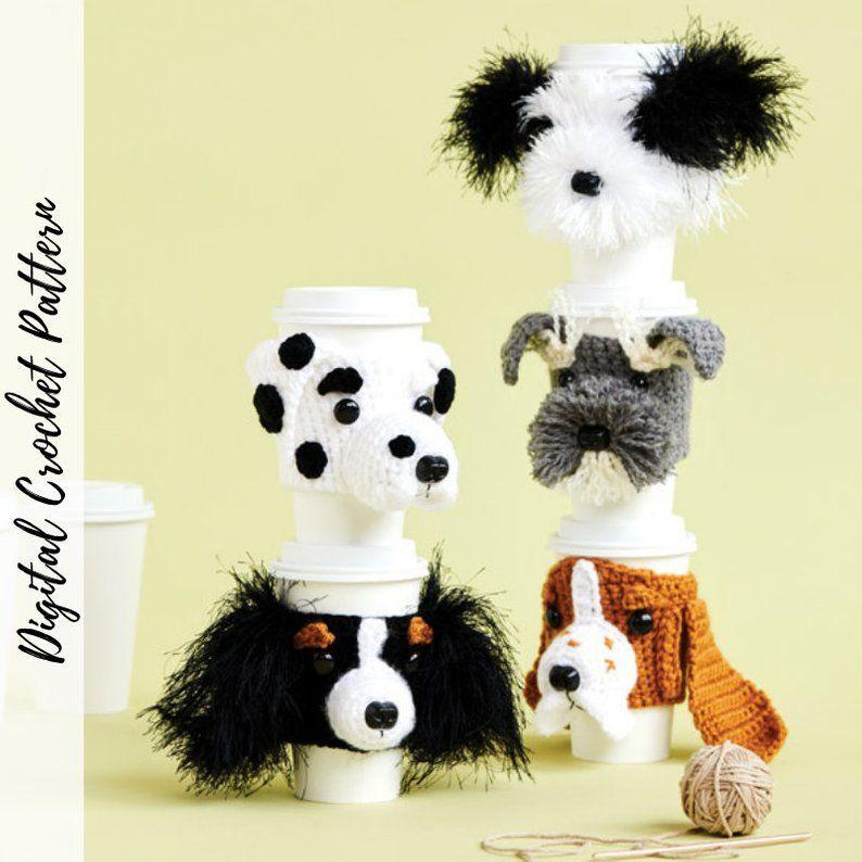 Dog Crochet Pattern Bundle Cup Cozy Patterns Fun Crochet