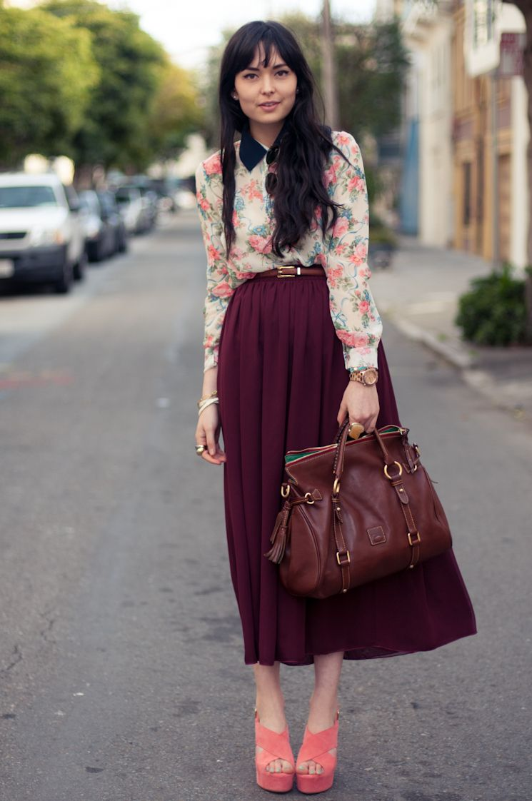 floral blouse from Romwe.  on danielle of visionary dreams.