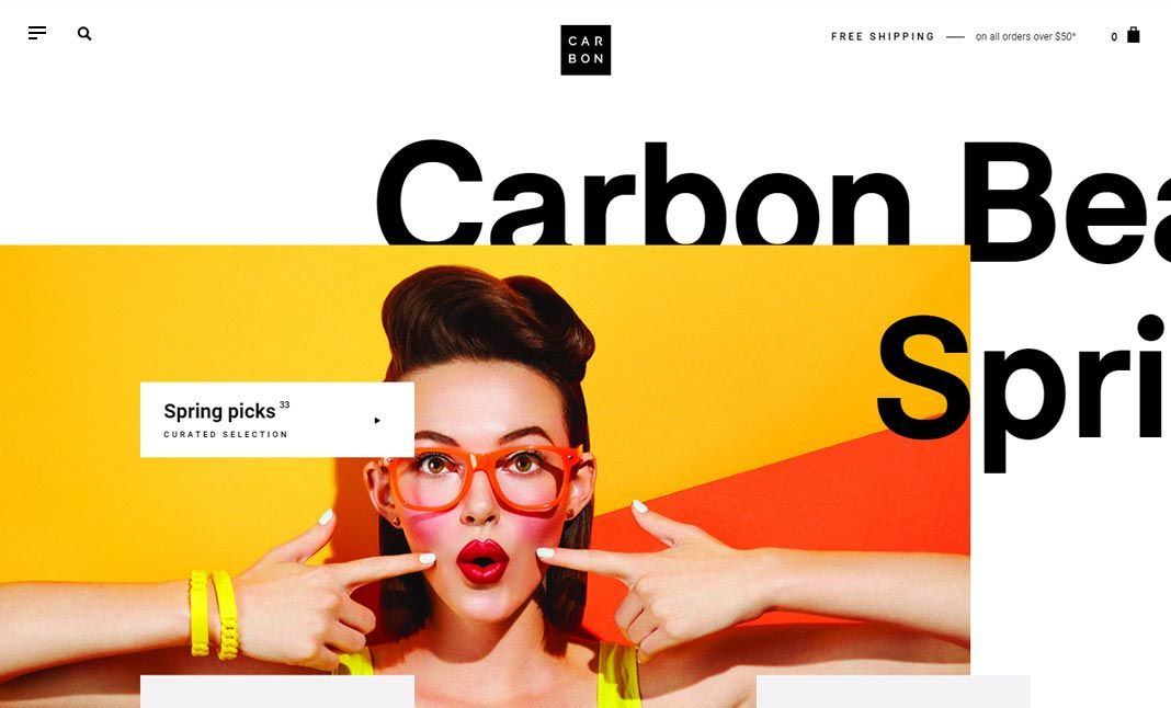 Carbon Beauty website