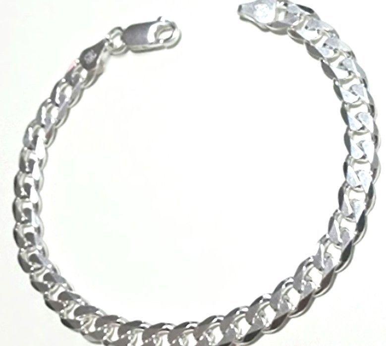 Men Women Children Sterling Silver Italian Cuban Curb Link Bracelet 6 5 Mm 8 Product Descriptionnew Stunning Solid Silver Link Bracelets 925 Silver Bracelet